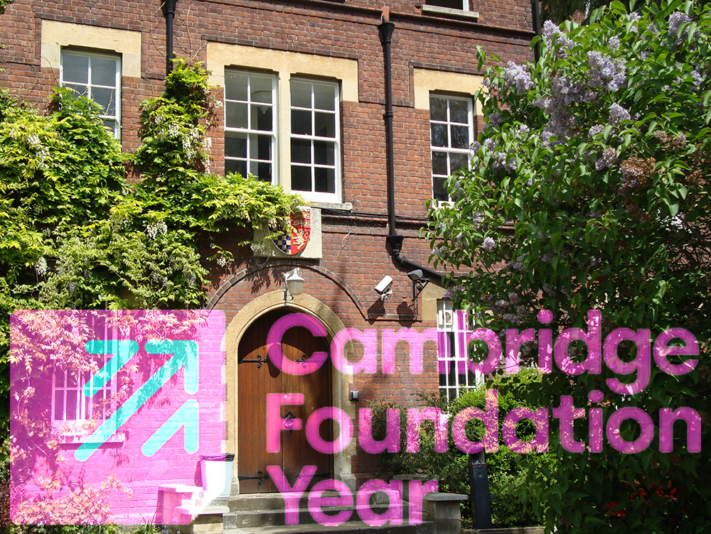 Cambridge Foundation Year Logo over St Edmund's